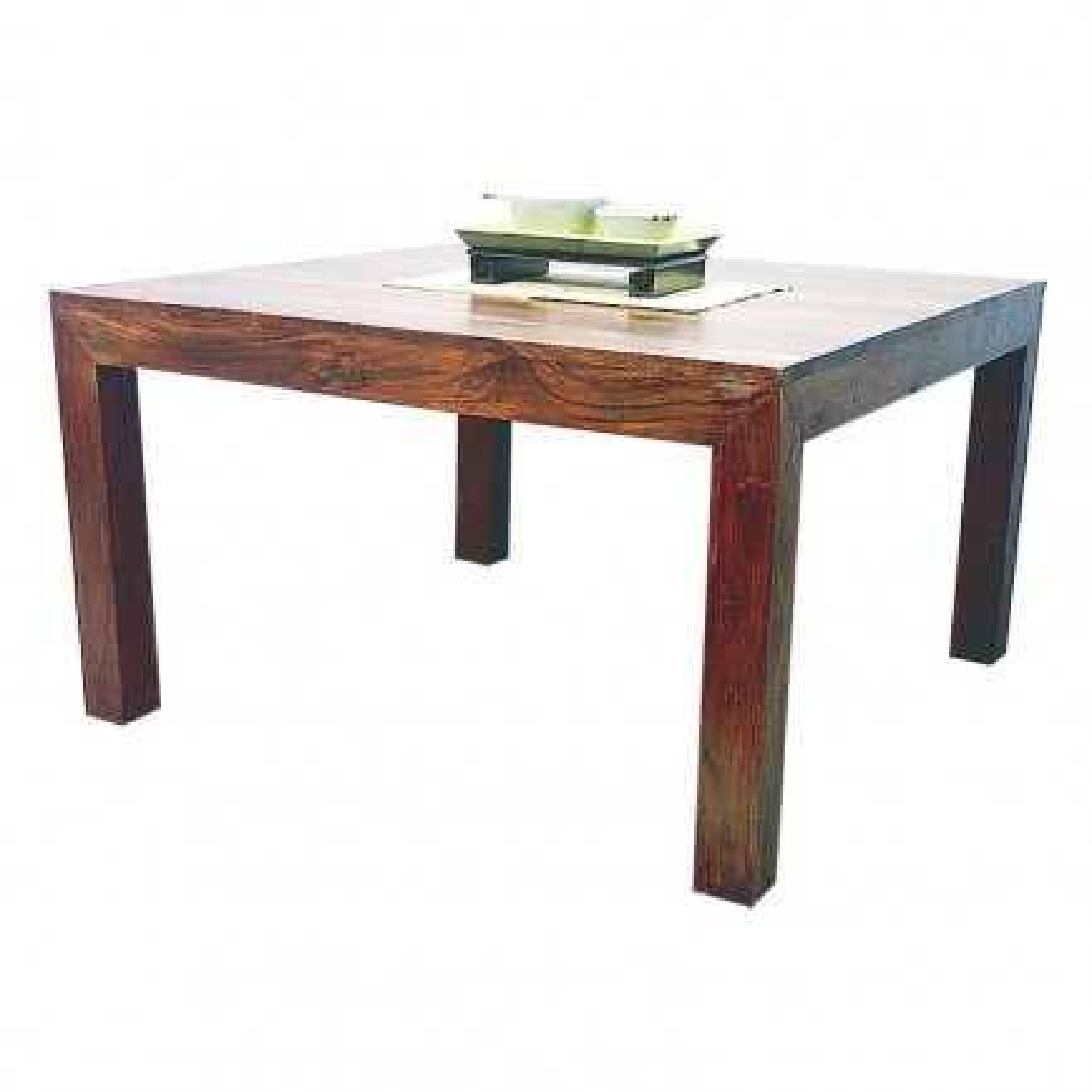 Table de repas carrée Palissandre Zen. Meuble en palissandre