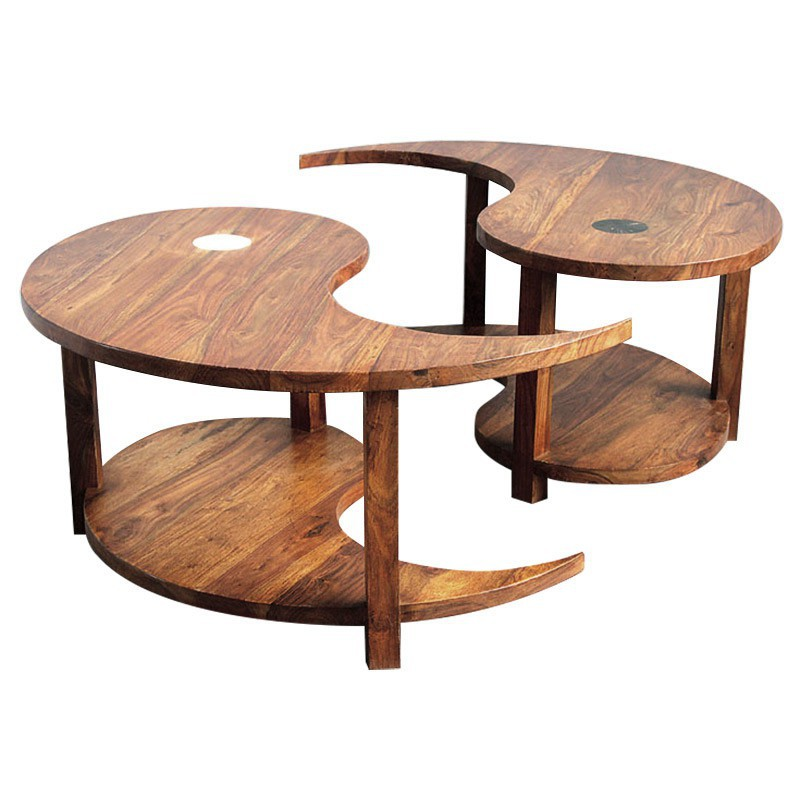 Table basse ronde ying yang for Table yin yang basse