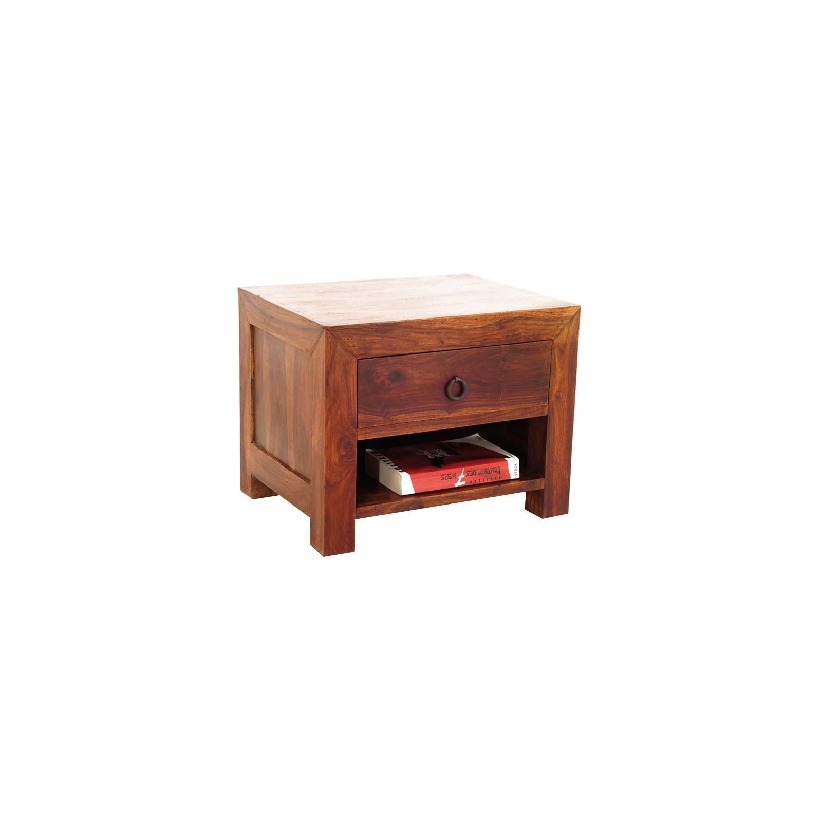 Chevet design en bois massif pour une chambre à coucher palissandre Zen.