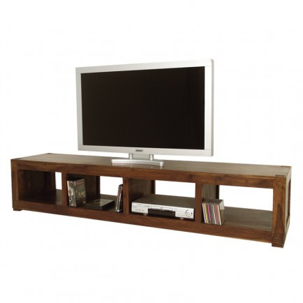 salon l 39 esprit africain meuble tv primitif en bois. Black Bedroom Furniture Sets. Home Design Ideas