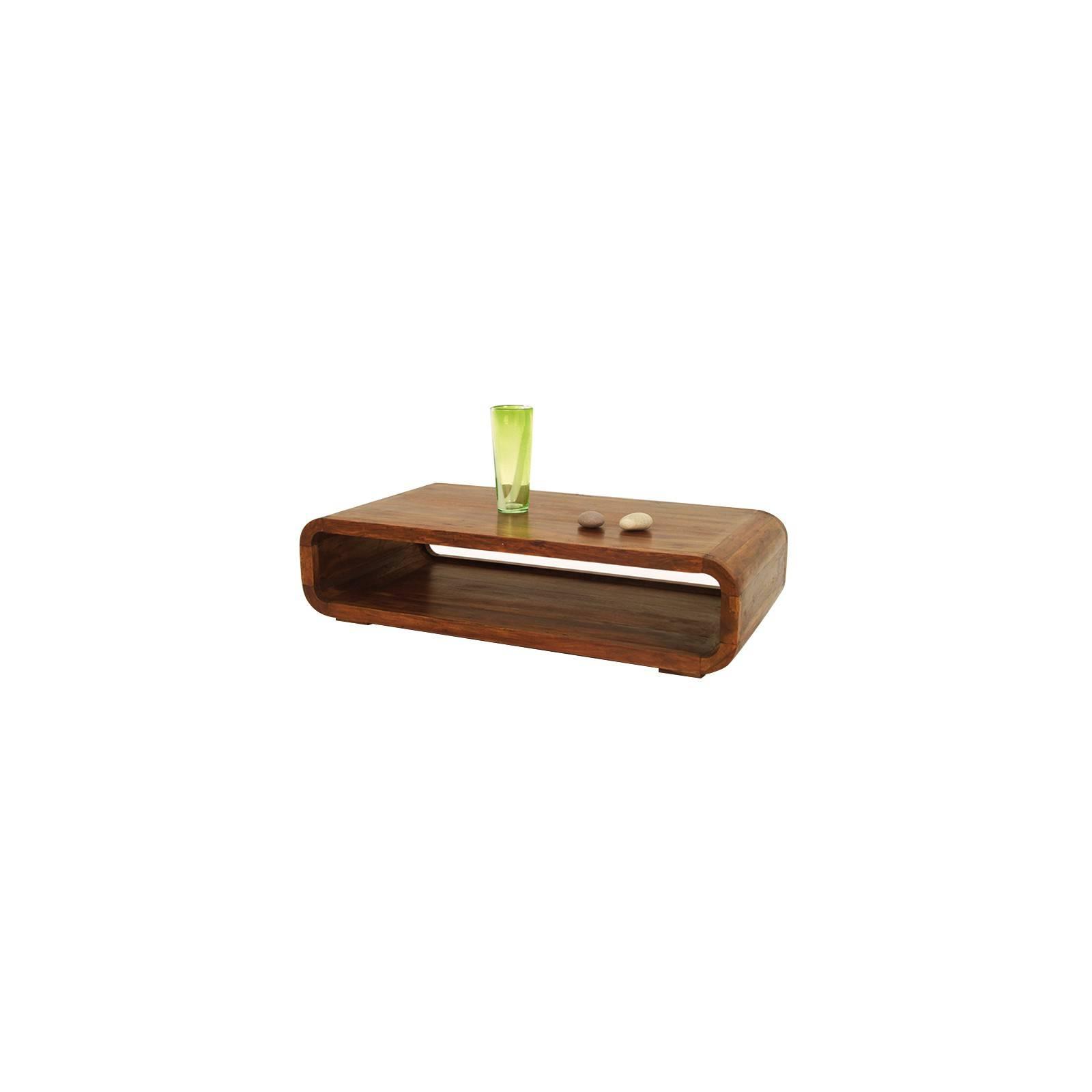 Table basse design. Meuble en bois exotique Lhassa