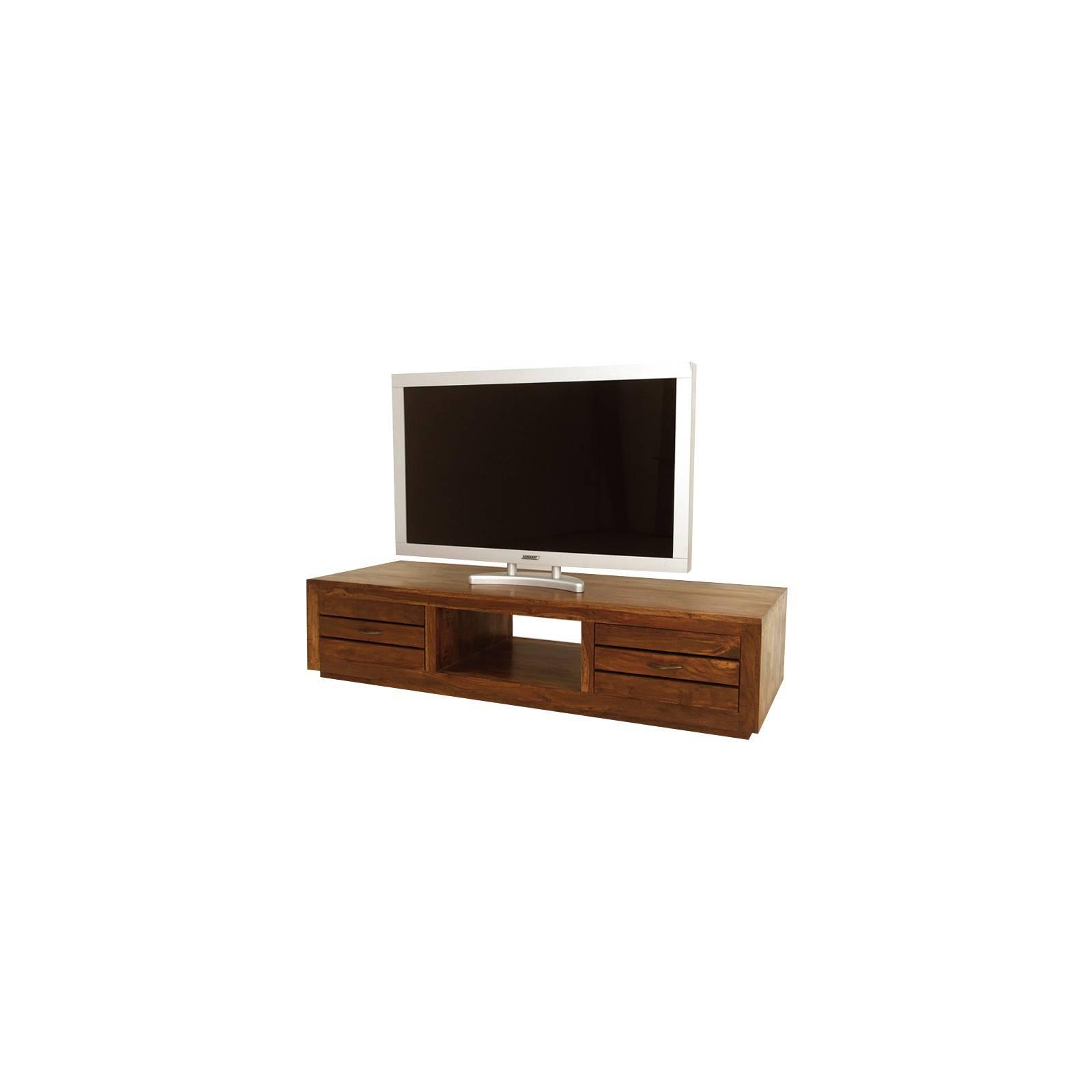 Meuble Tv à tiroirs. Salon à l'esprit ethnique design Okina