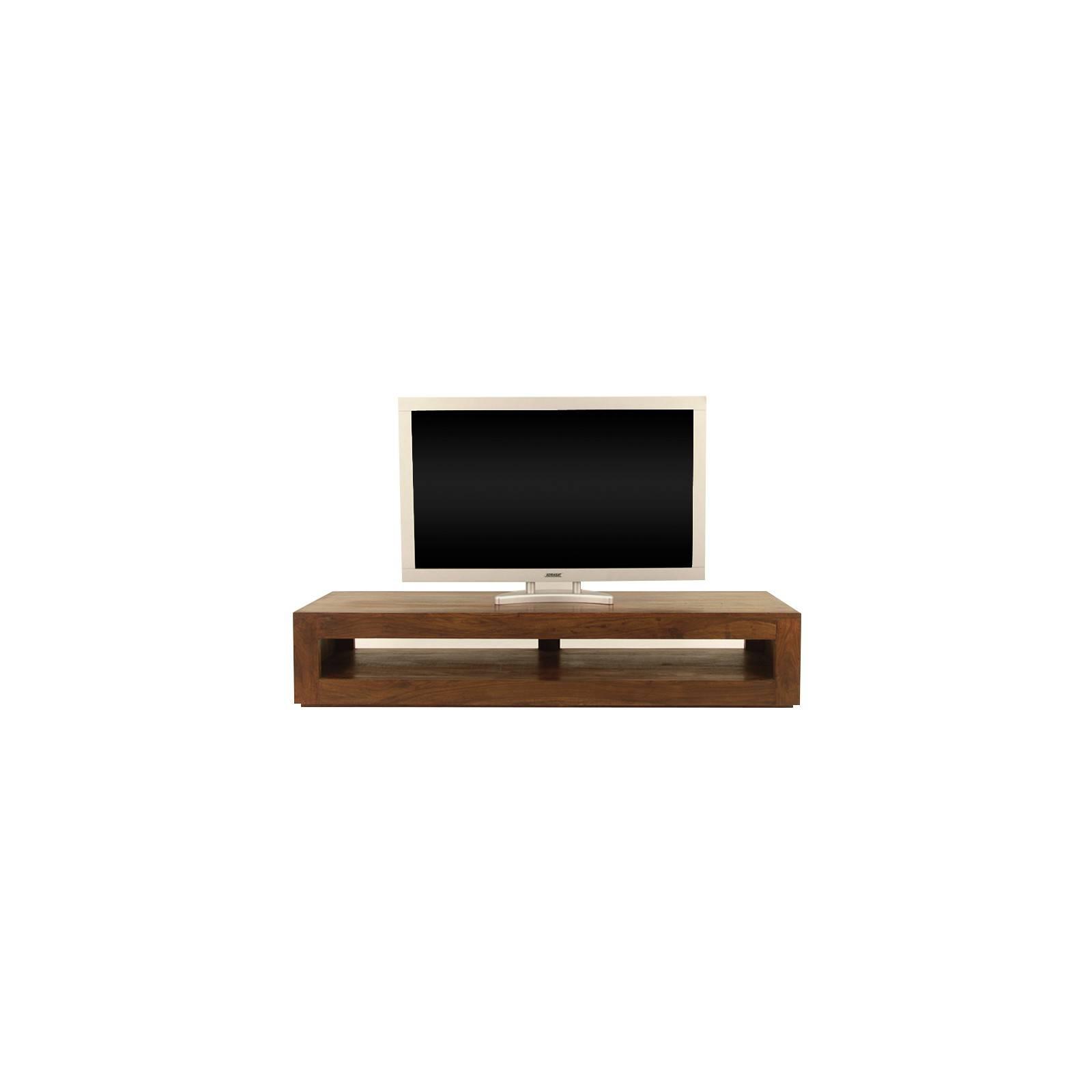Meuble Tv minimaliste. Salon à l'esprit zen