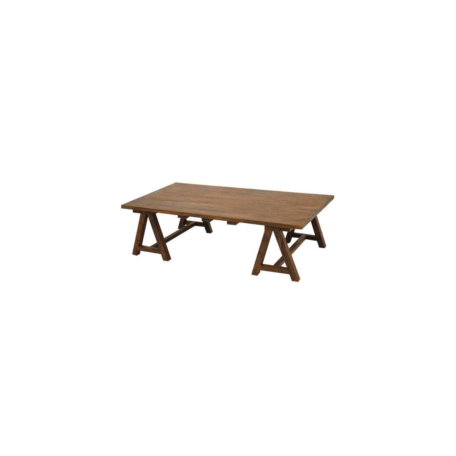 Table basse aux pieds en forme de tréteaux Lhassa