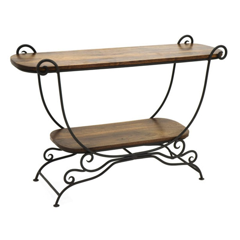 Maison la d co romantique console en fer forg et for Meuble fer forge