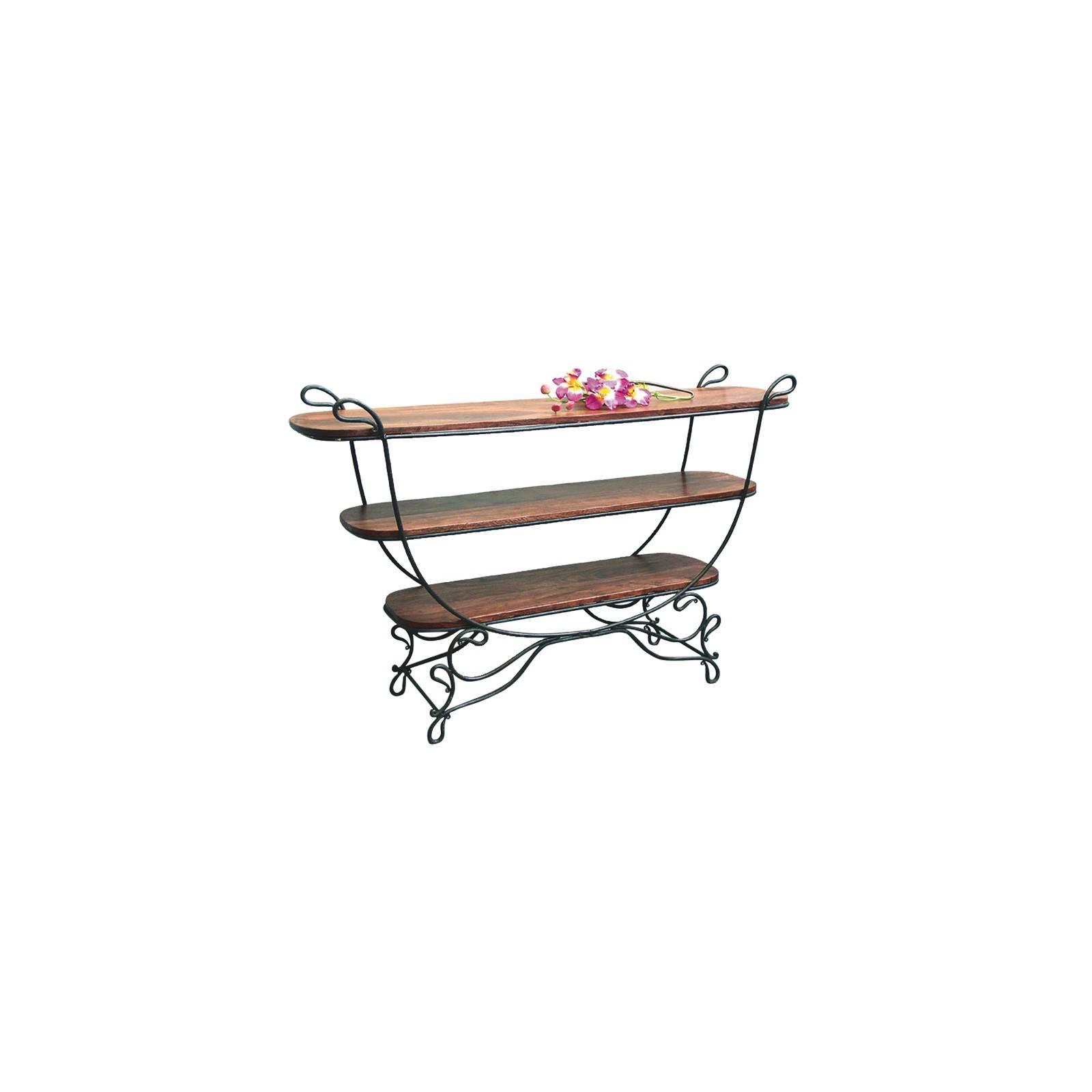 console d corative en fer forg et palissandre maison romantique. Black Bedroom Furniture Sets. Home Design Ideas