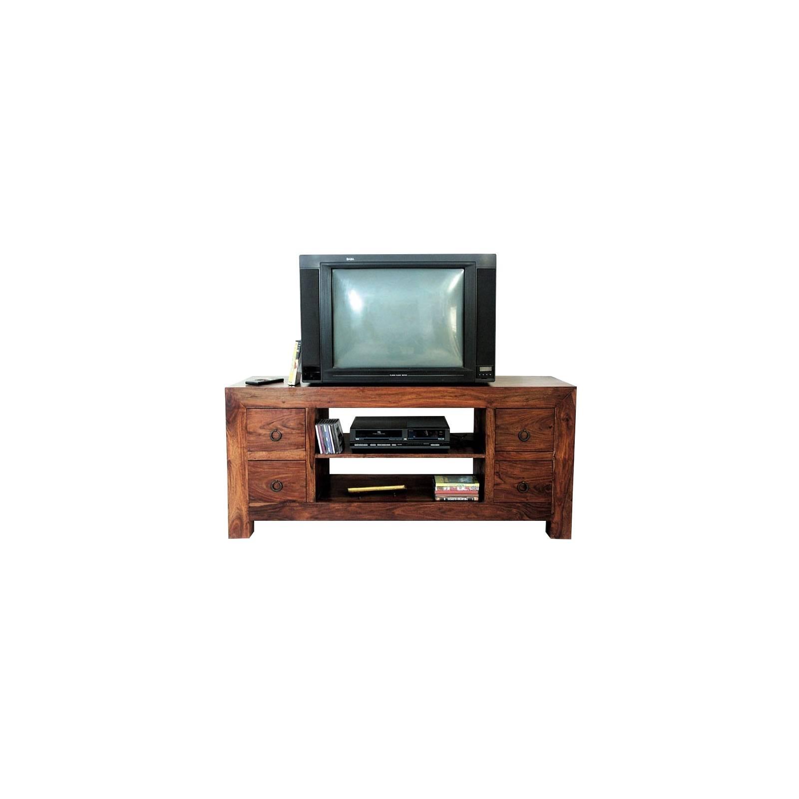 Meuble Tv Tiroirs Zen Palissandre - meubles bois exotique