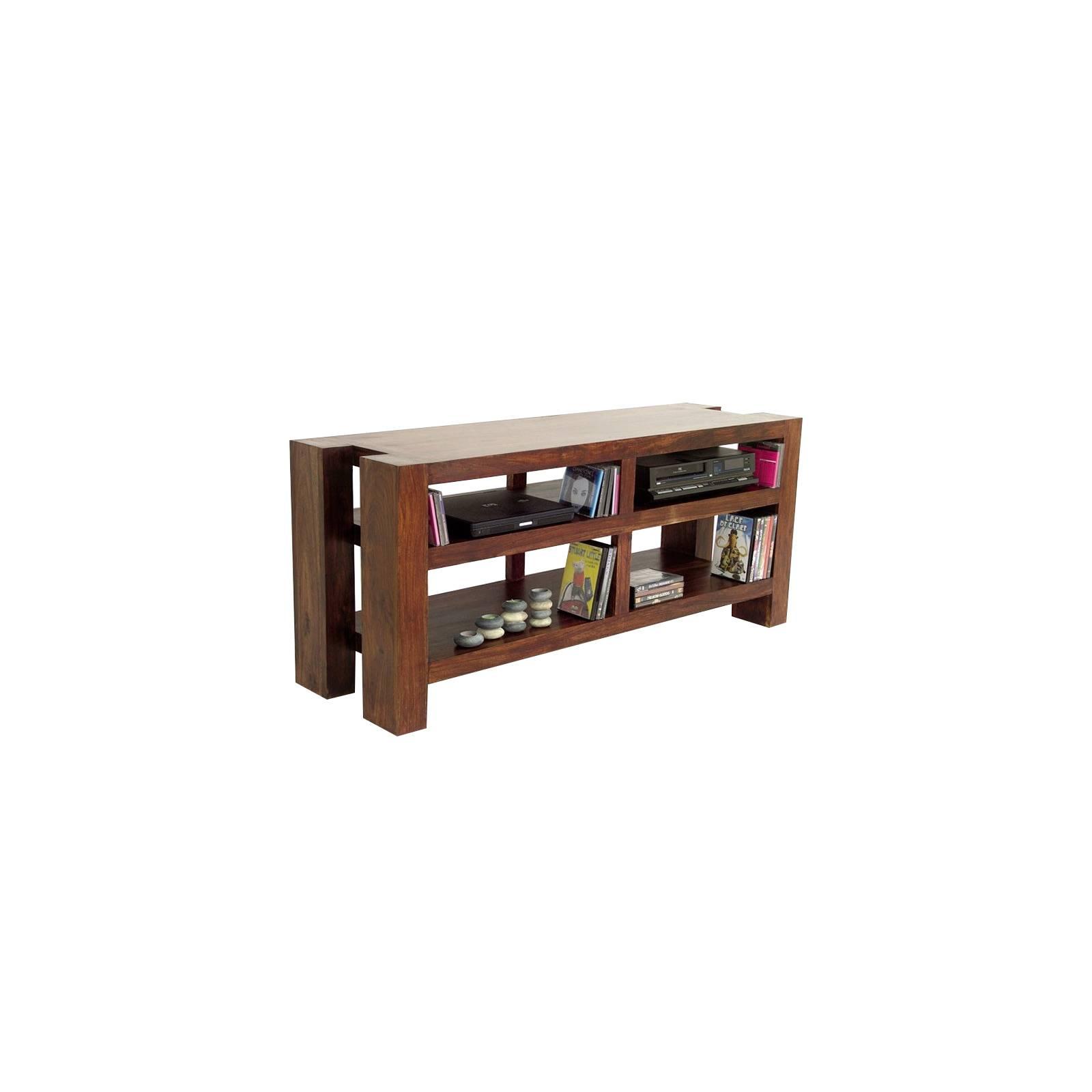 Meuble Tv Niches Zen Palissandre - meubles bois exotique