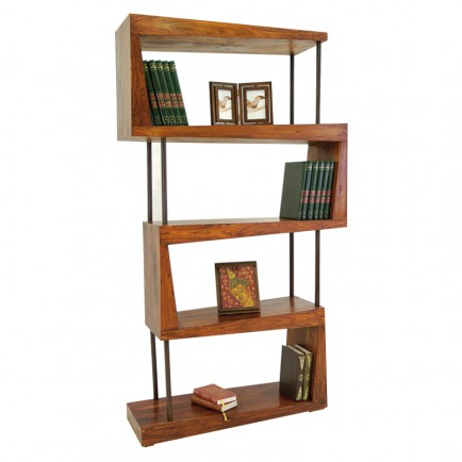Étagère design en palissandre massif | Collection en bois exotique Lhassa