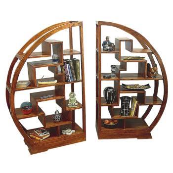 Etagère Double Lhassa Palissandre - meuble tendance coloniale