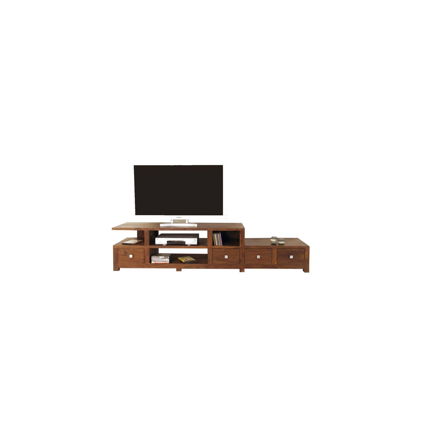 Meuble Tv GM Lhassa Palissandre - meuble tendance coloniale