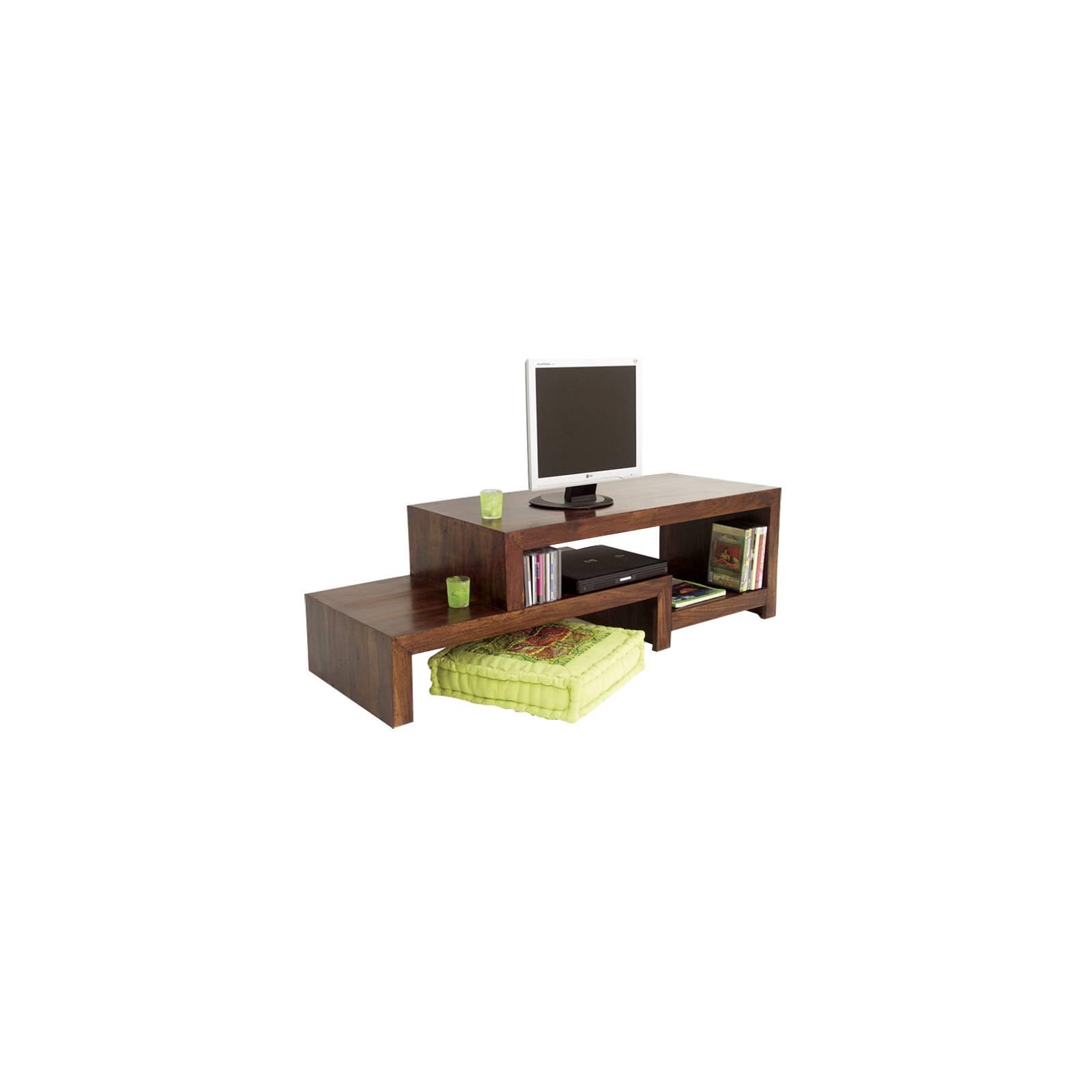Meuble Tv Asymétrique Lhassa Palissandre - meuble tendance coloniale