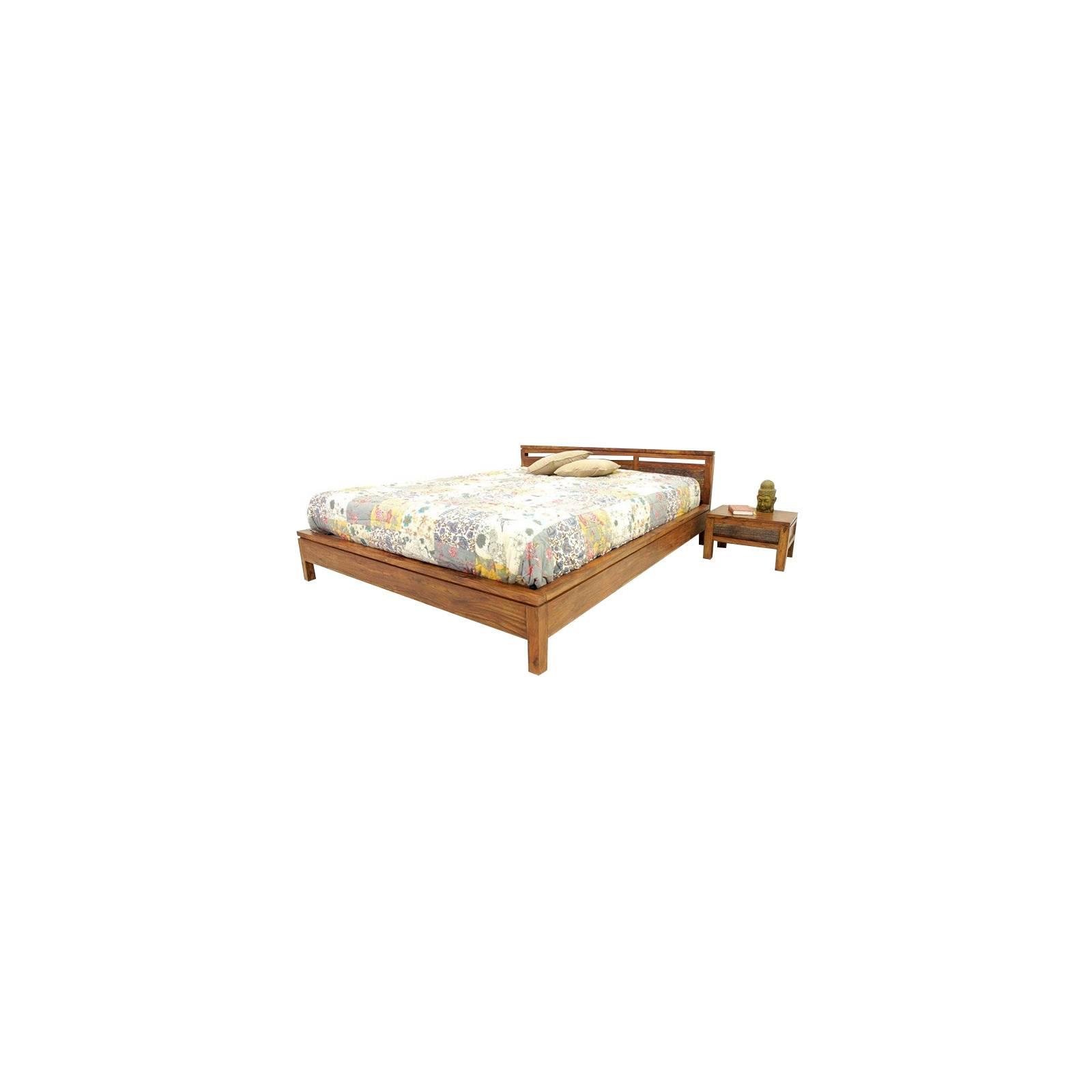 Lit 140 Sikasso Palissandre - meubles de chambre style ethnique