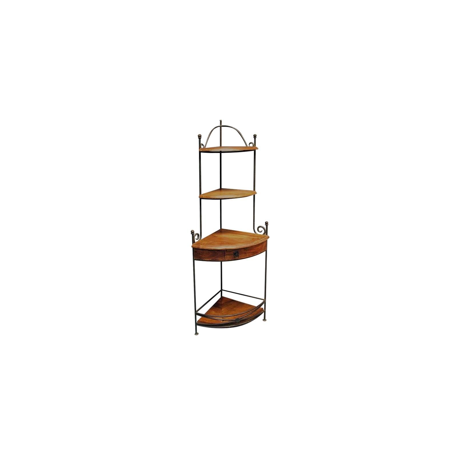 Encoignure Fer forgé et Palissandre - meuble style romantique