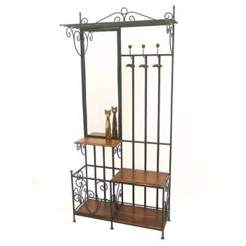 Vestiaire Fer forgé et Palissandre - meuble style romantique
