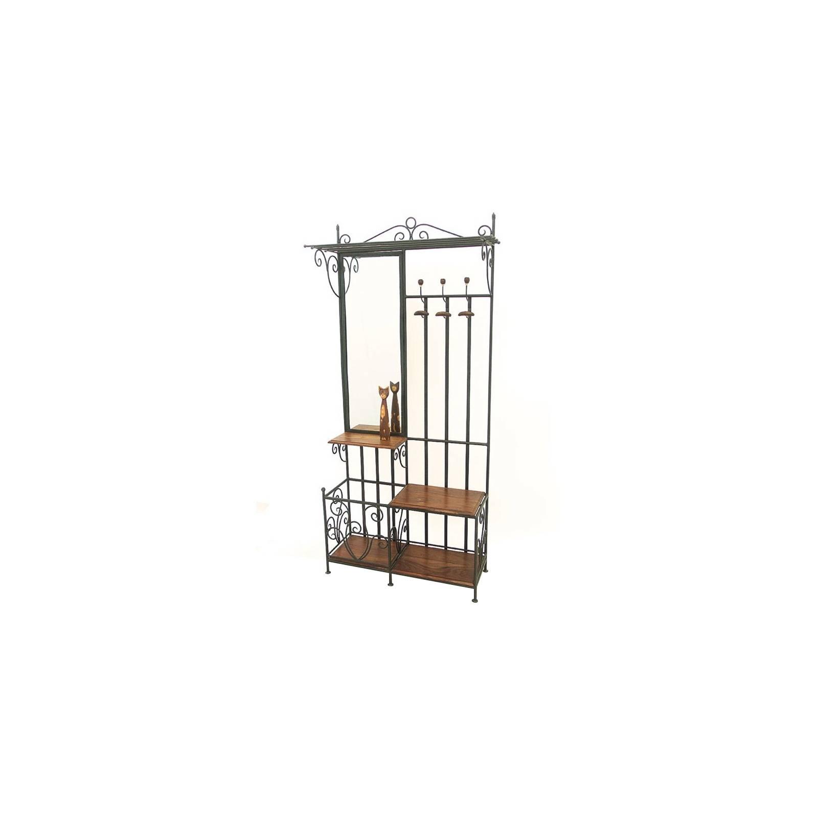 vestiaire fer forg et palissandre meuble style romantique