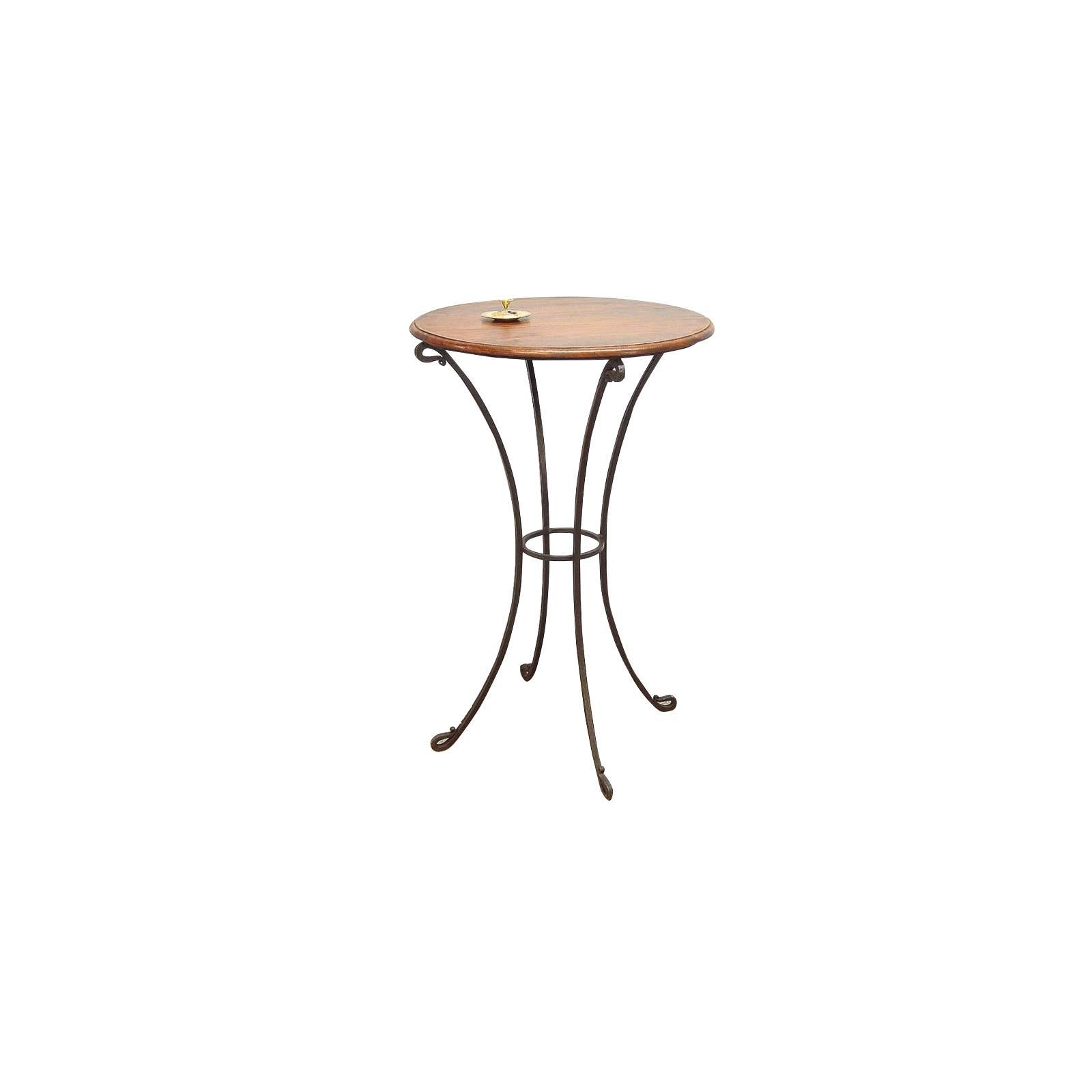 Table Bar Fer forgé et Palissandre - meuble style romantique