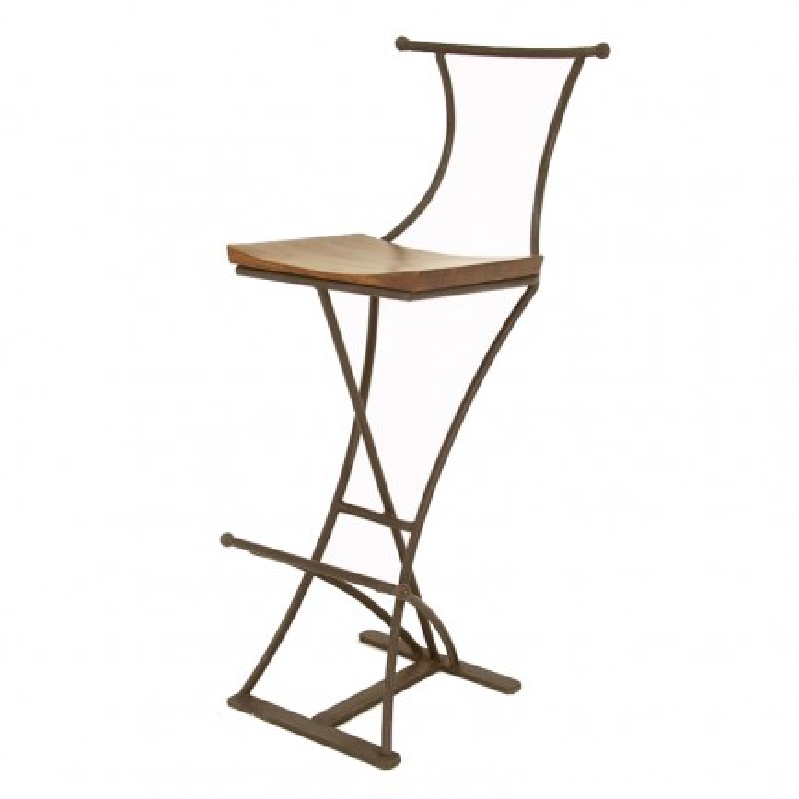 Tabouret de Bar Fer forgé et Palissandre - meuble style romantique