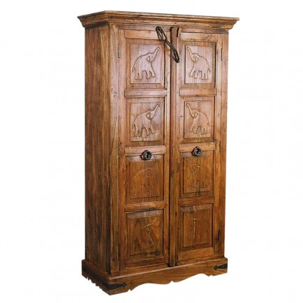armoire indienne new dehli meuble style exotique. Black Bedroom Furniture Sets. Home Design Ideas