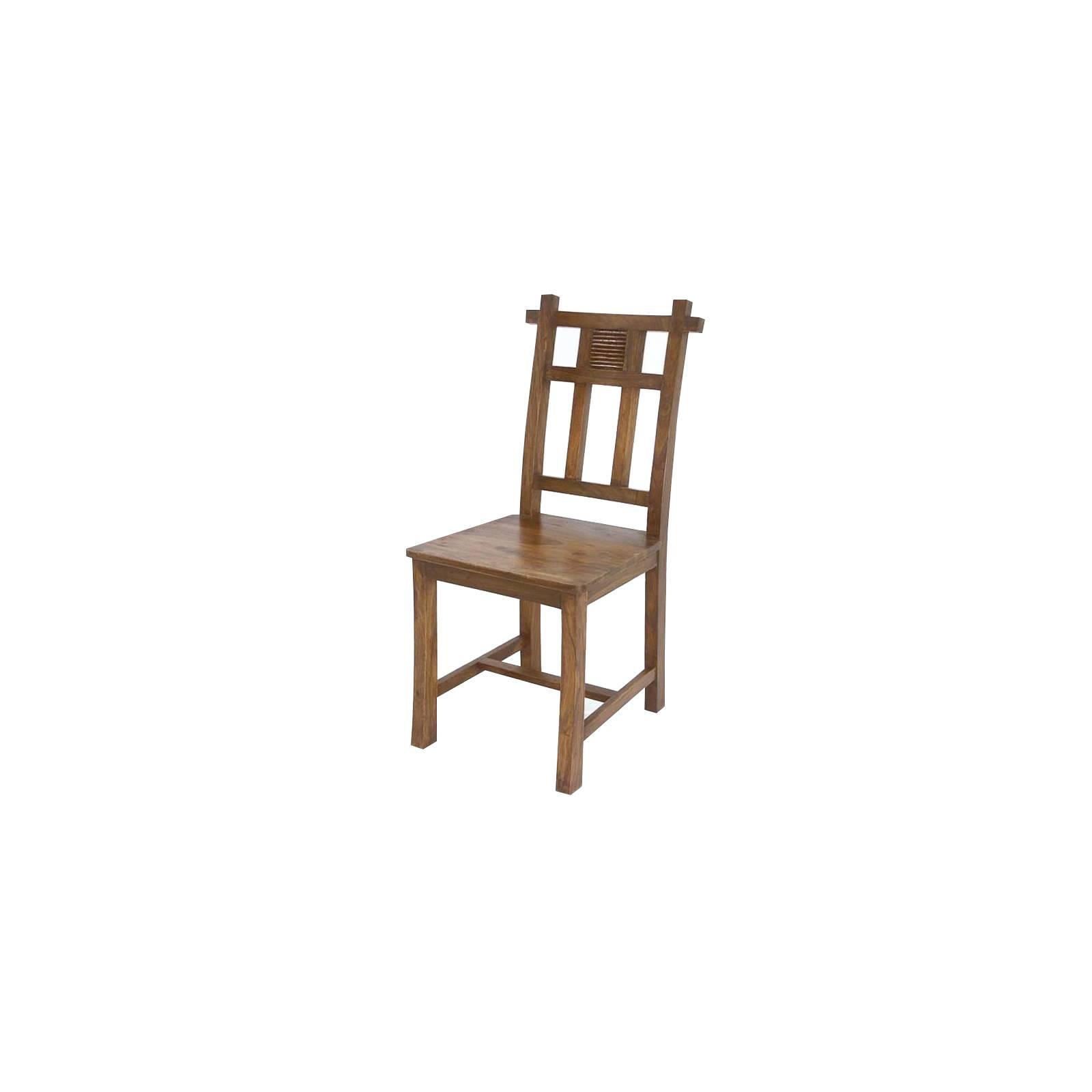Chaise au style africain primitif