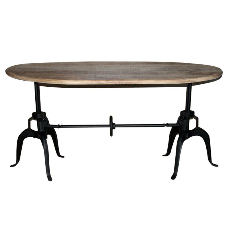 D co caf s parisiens table r glable en hauteur fabric - Table de salon reglable en hauteur ...