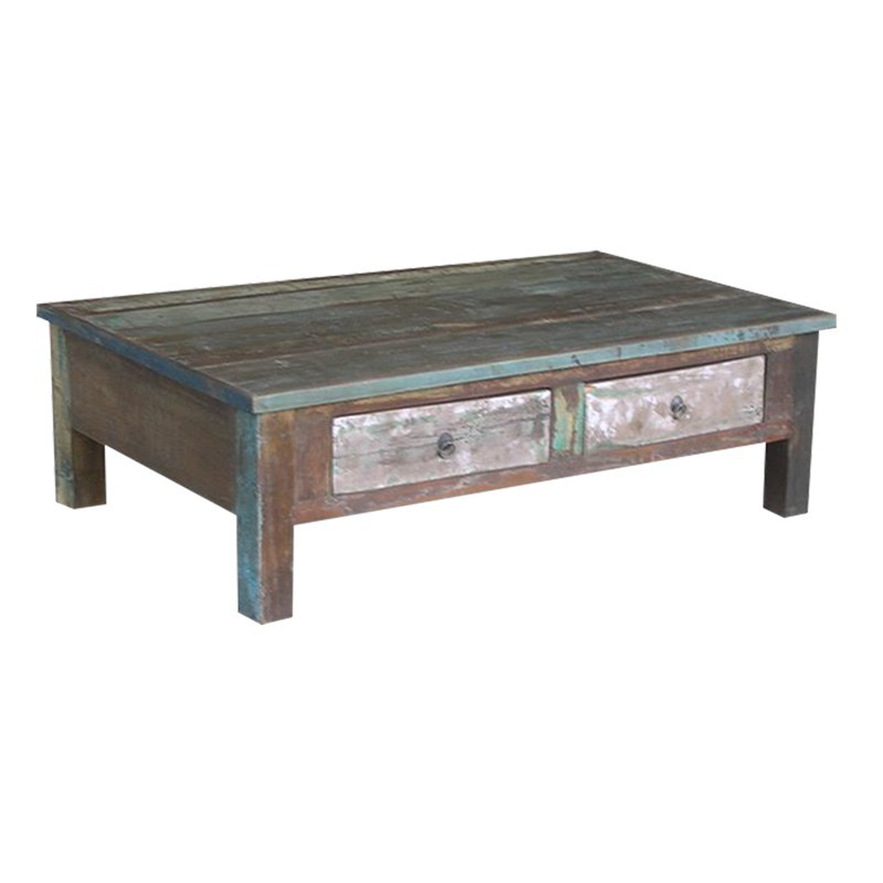 table basse en bois recycl d coration des les cuba. Black Bedroom Furniture Sets. Home Design Ideas