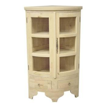 Meuble d 39 angle vitrines de coin petits meubles de rangement for Meuble qui a plusieurs tiroirs