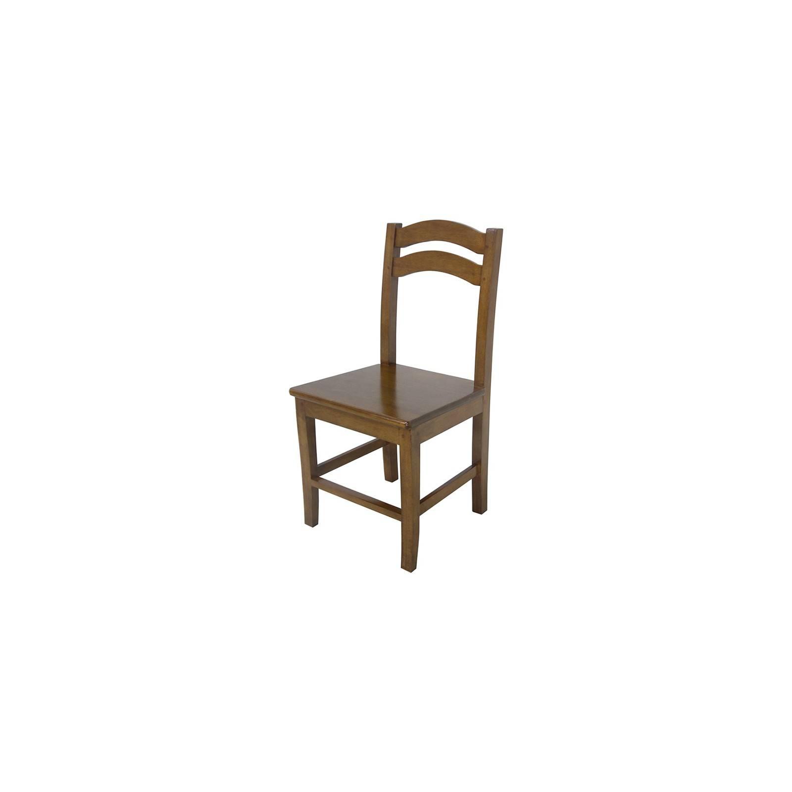 Chaise en bois massif et au style traditionnel
