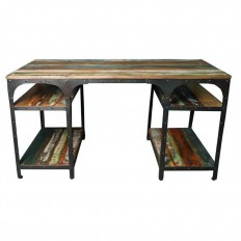 Bureau en bois recyclé : meuble style industriel