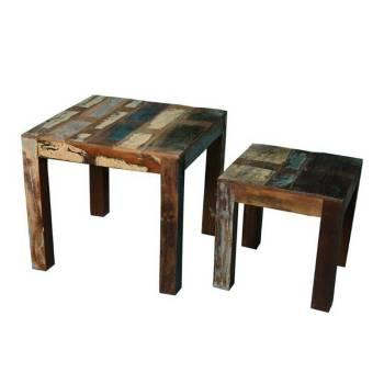 Sellettes décoratives en bois recyclé Cuba