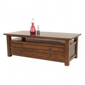 Table basse à tiroirs Tradition Hévéa