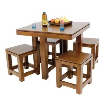 Table de repas et tabourets assortis. Meubles design Montréal