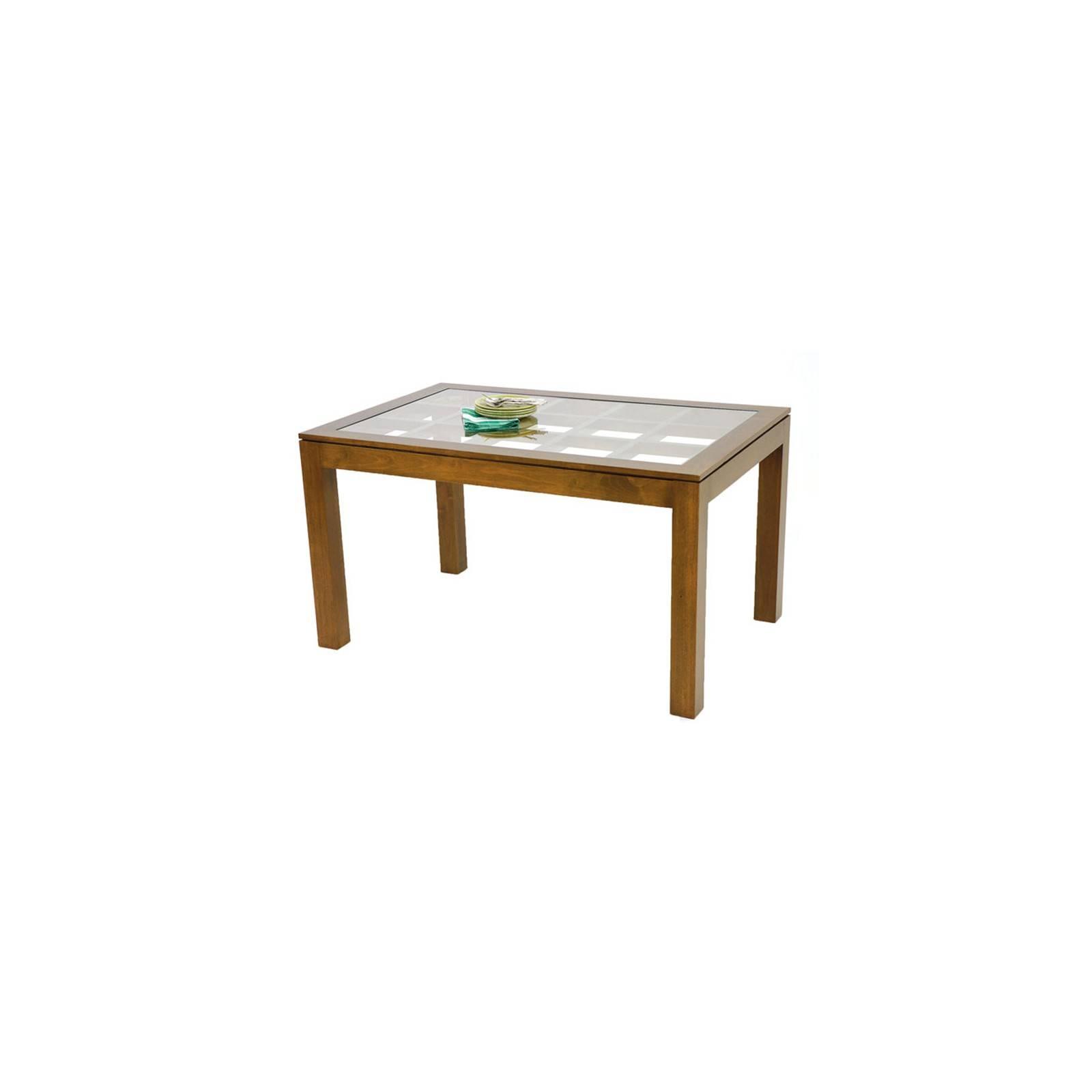 Table de salle vitrée rectangulaire Omega