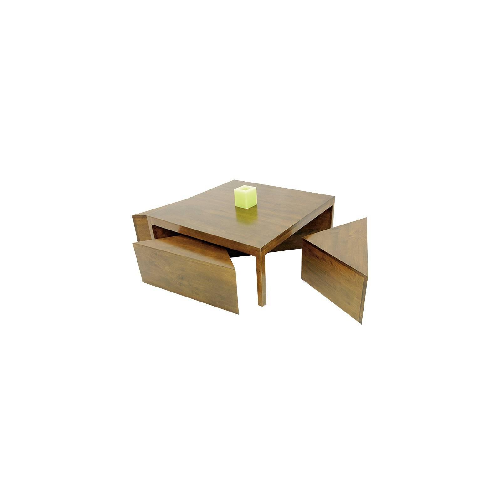 Table basse et ses quatres tabourets design Omega