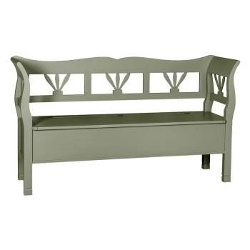 Banc coffre GM Riviera en bois massif - meuble de style romantique - parfait pour un entrée