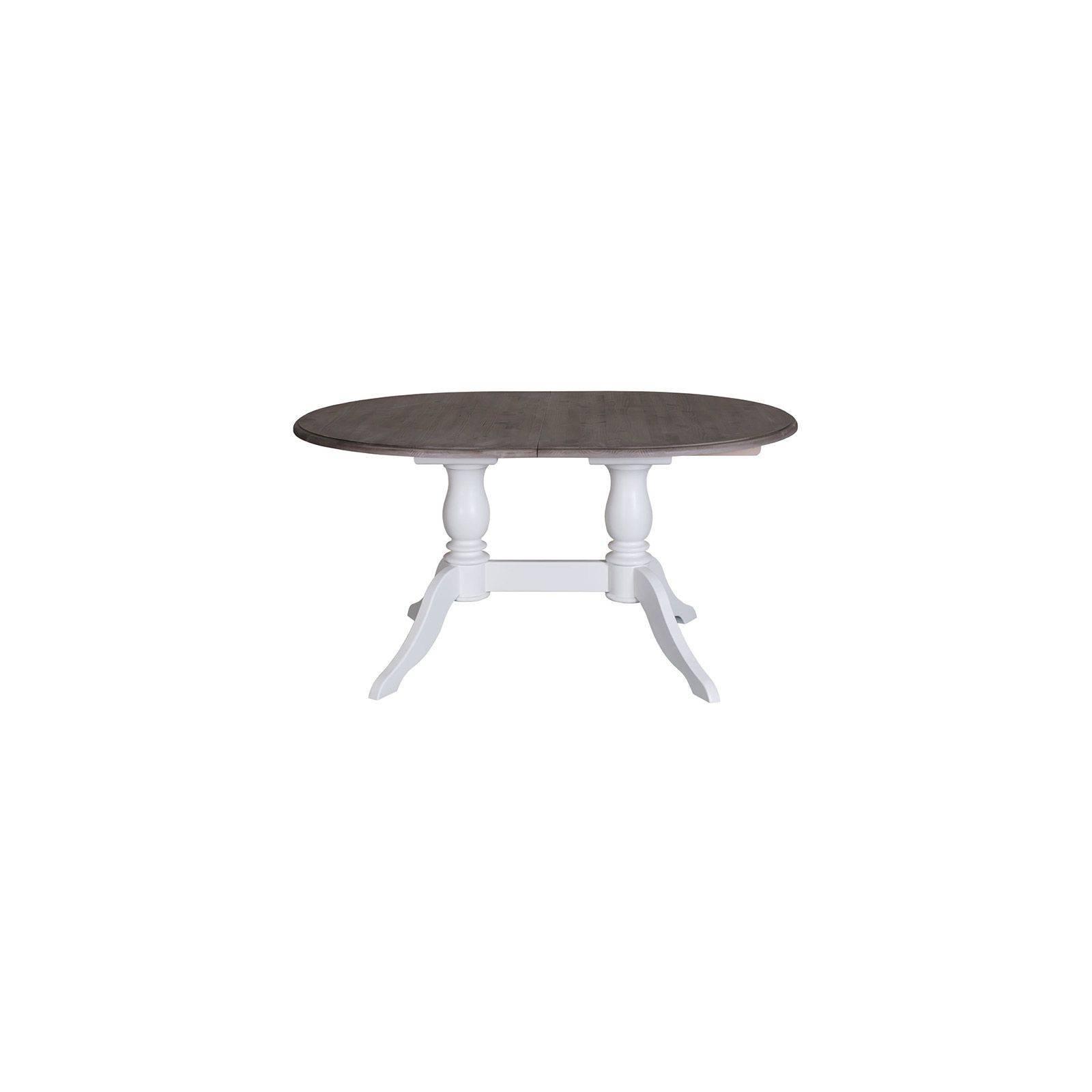 Table de repas double pied ovale Riviera - Mobilier de séjour tendance charme