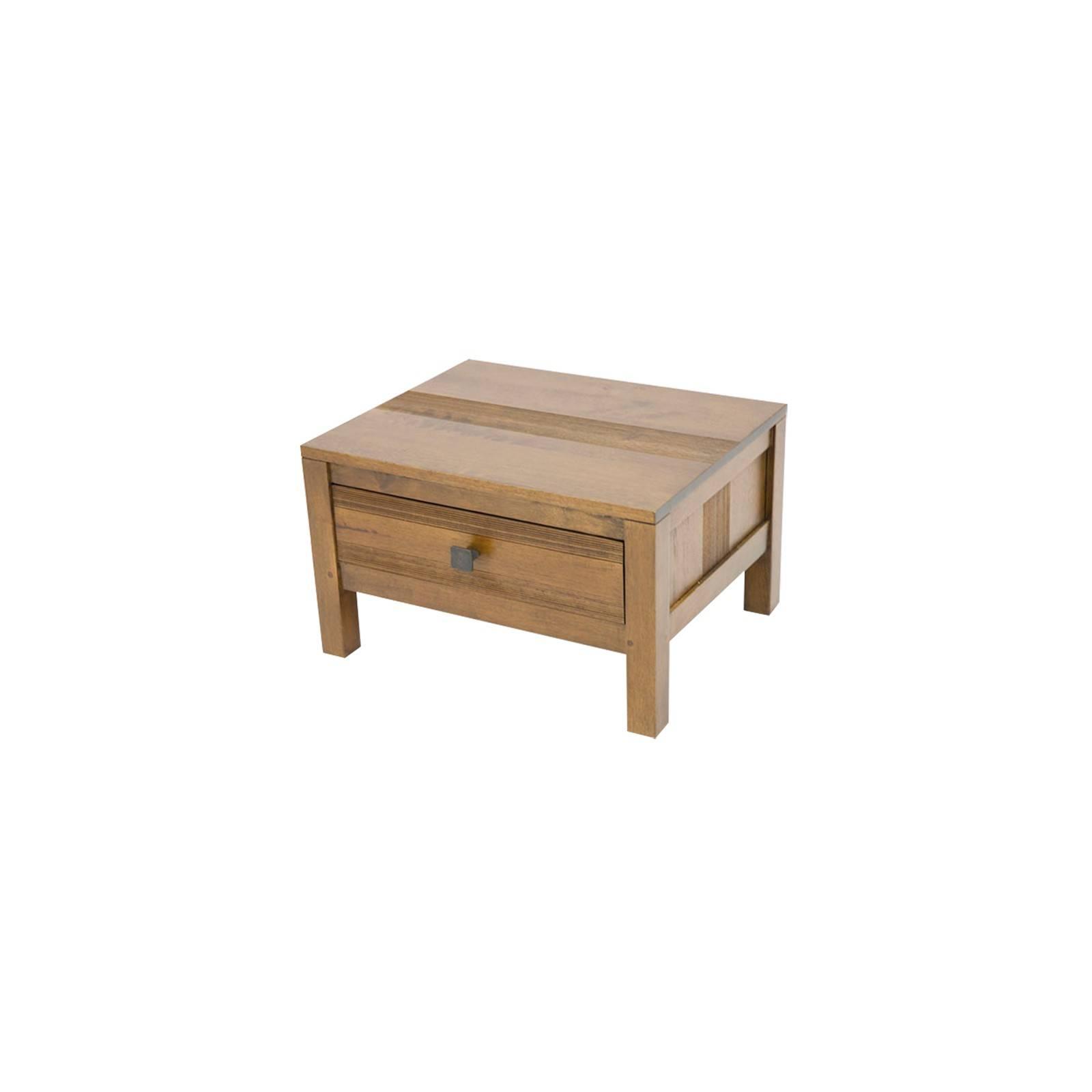 Chevet avec un tiroir de la collection en bois exotique Siguiri