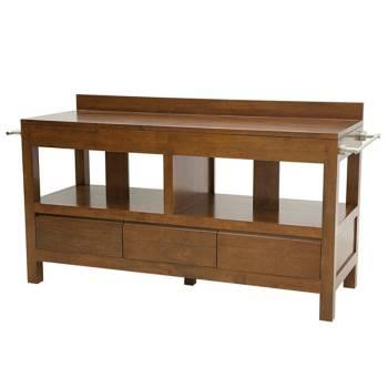 meuble de rangement pour la salle de bain bois exotique massif. Black Bedroom Furniture Sets. Home Design Ideas