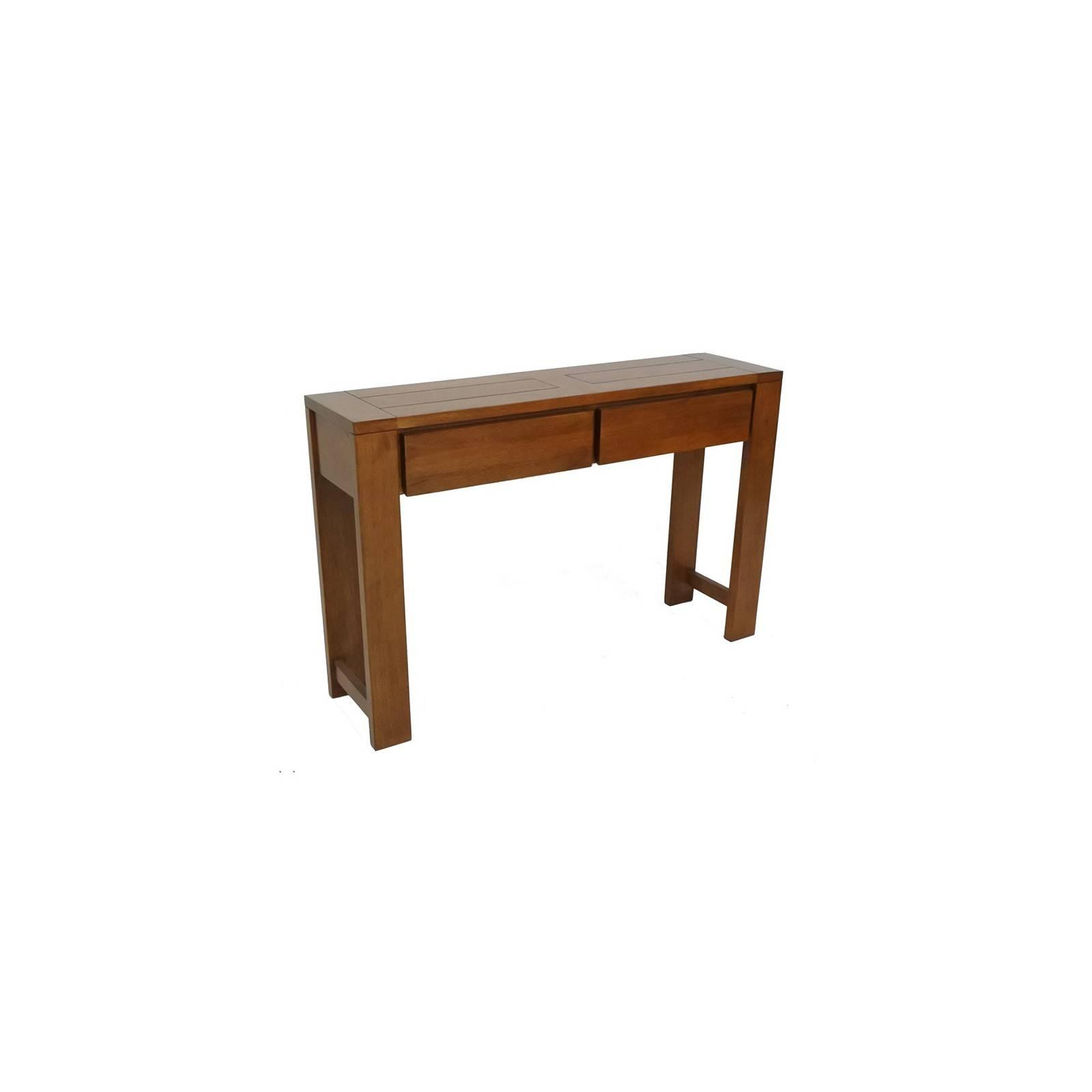 Console à tiroirs Broadway. Meuble d'entrée en bois exotique