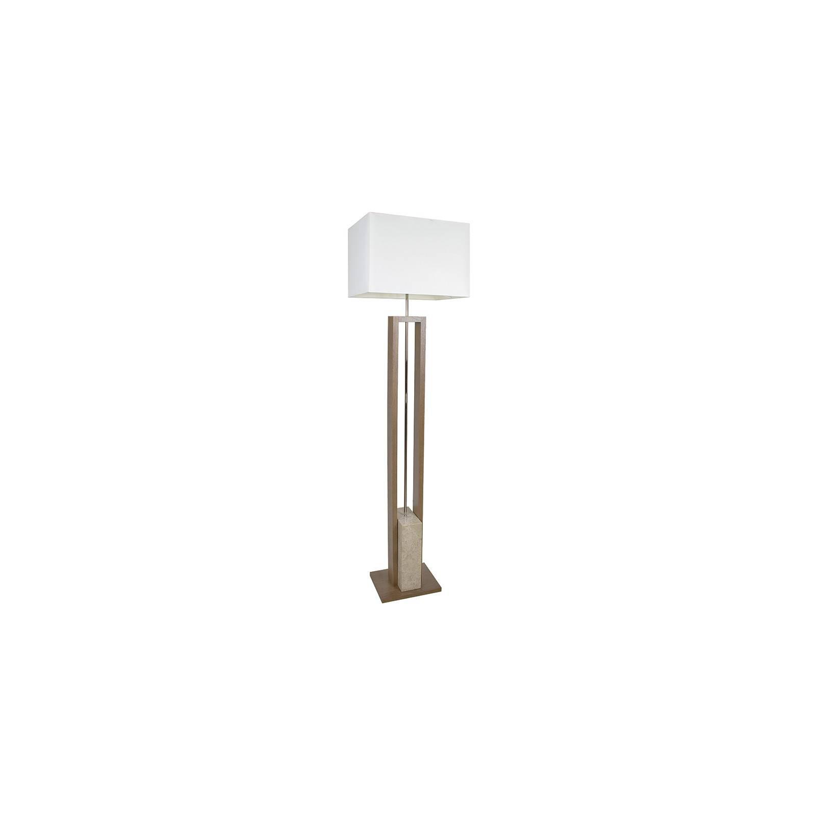 Lampadaire en marbre et bois au style design Stone Q