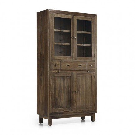 meuble en bois exotique vitrine terranova en mindi. Black Bedroom Furniture Sets. Home Design Ideas