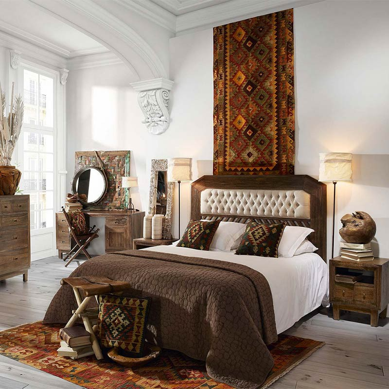 chevet en bois exotique terranova d co africaine. Black Bedroom Furniture Sets. Home Design Ideas