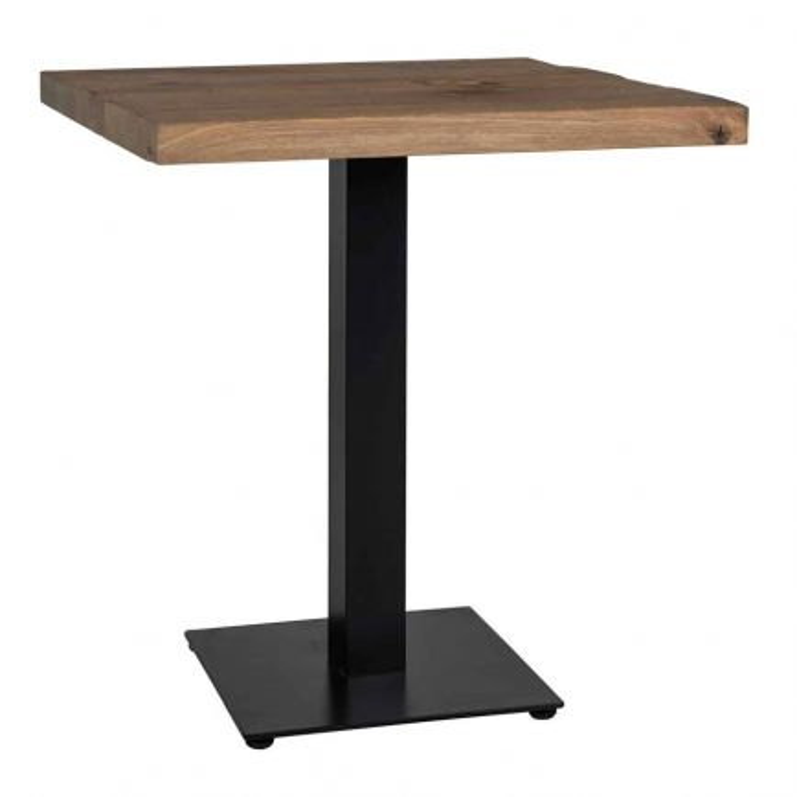 Table de salle carrée Chêne Victoria - table pied central
