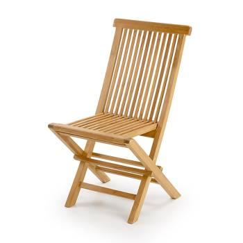 Chaise de jardin pliante Teck Greenwood