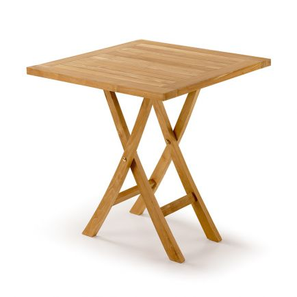 Table de jardin carré pliante Greenwood Teck