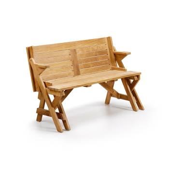Banc de jardin convertible en table Teck Greenwood