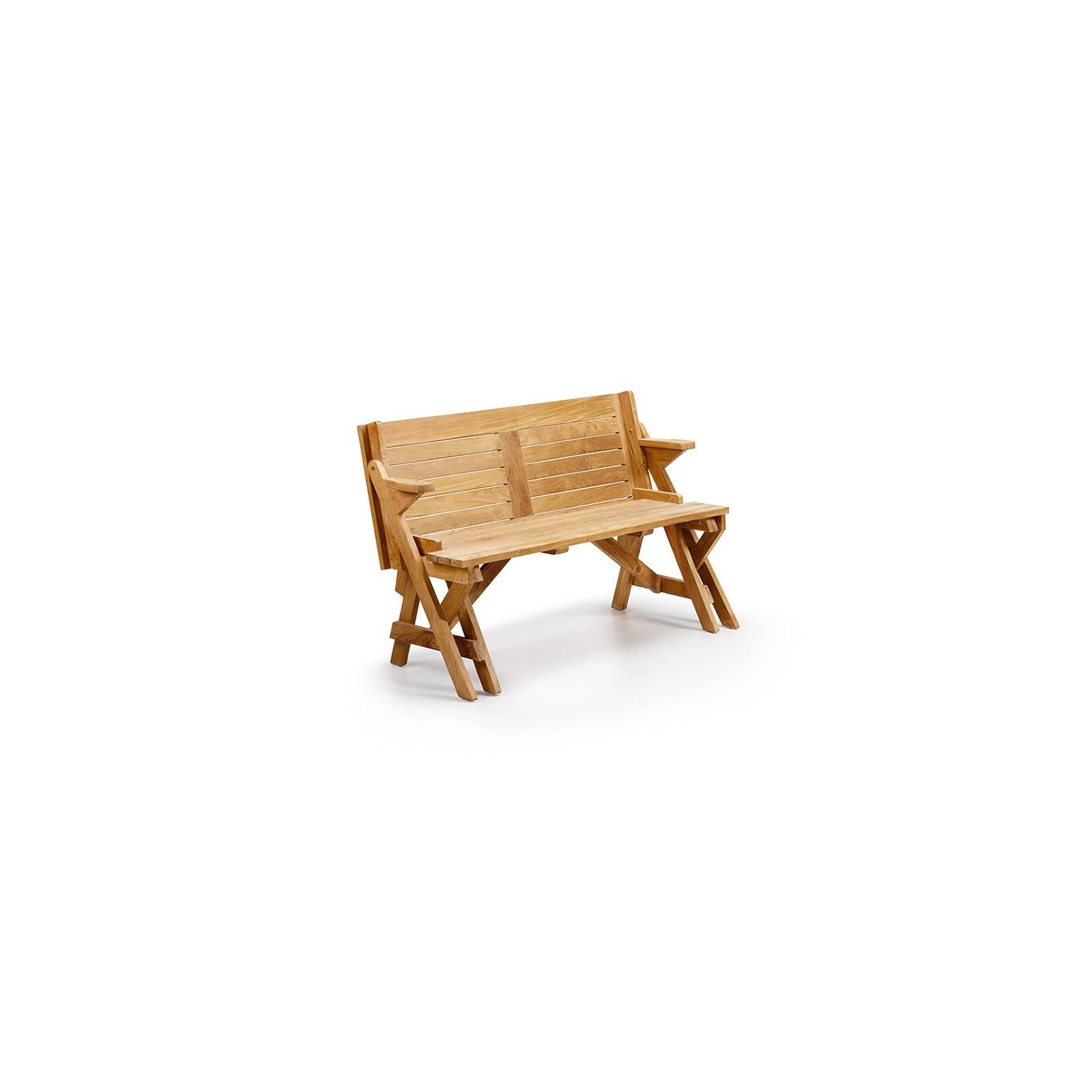 Banc de jardin convertible en table Greenwood Teck