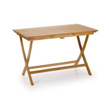Table de jardin rectangulaire pliante Teck Greenwood