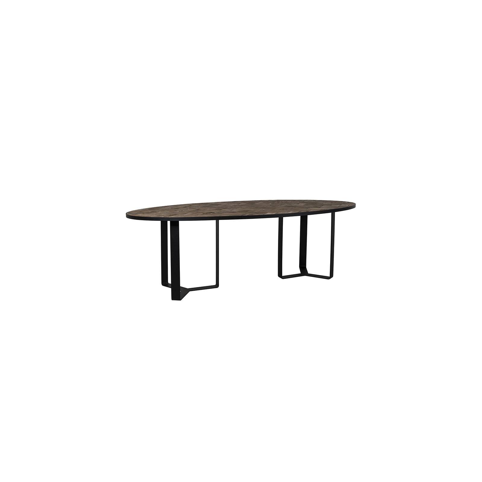 Table de salle ovale Chevron Chêne