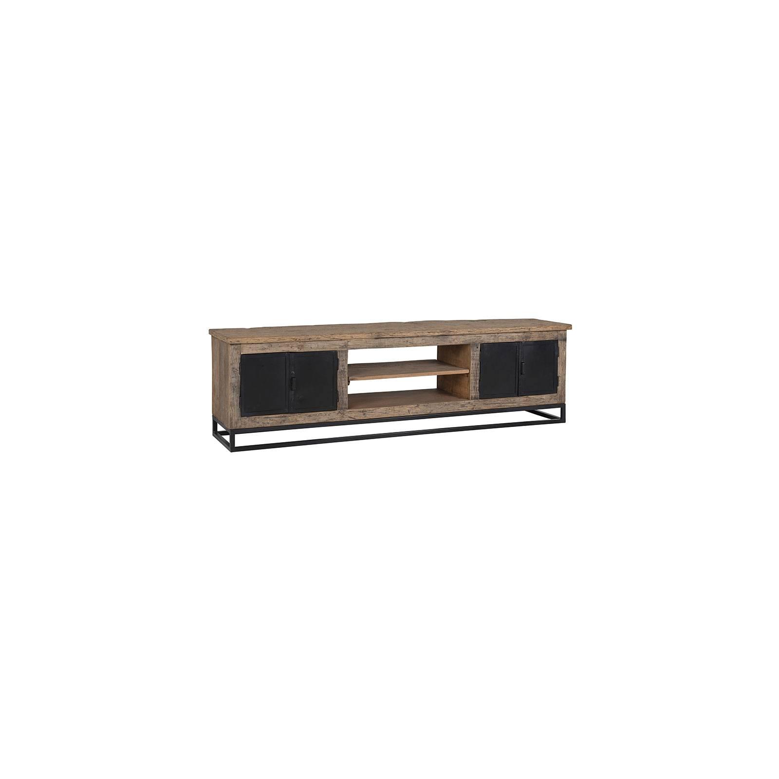 Meuble TV à portes Brookwood en bois recyclé